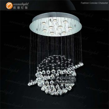 glass bubble lamp shades chandelier om9132w - Bubble Chandelier