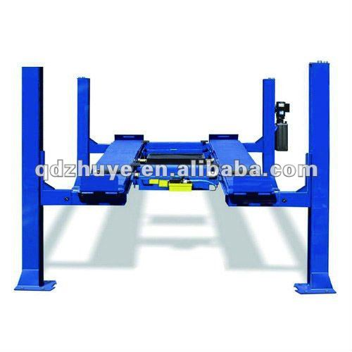 5.5T used hydraulic four post car lifter for sale; automotive workshop equipment
