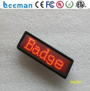 Leeman Group Led flashing name badge/ Digital led name badge/ Mini led name sign