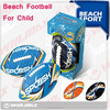 black color neoprene beach American football/beach soccer balls