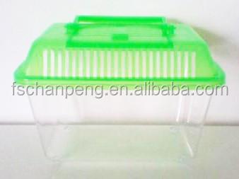 portable goldfish tortoise climb plastic box pet box mini goldfish bowl buy glass goldfish. Black Bedroom Furniture Sets. Home Design Ideas