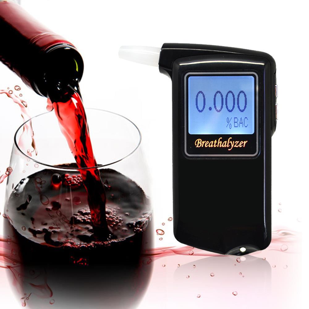 Новый переносной полиция алкотестер анализатор детектор цифровой жк-тестер спирта дыхания бесплатная доставка