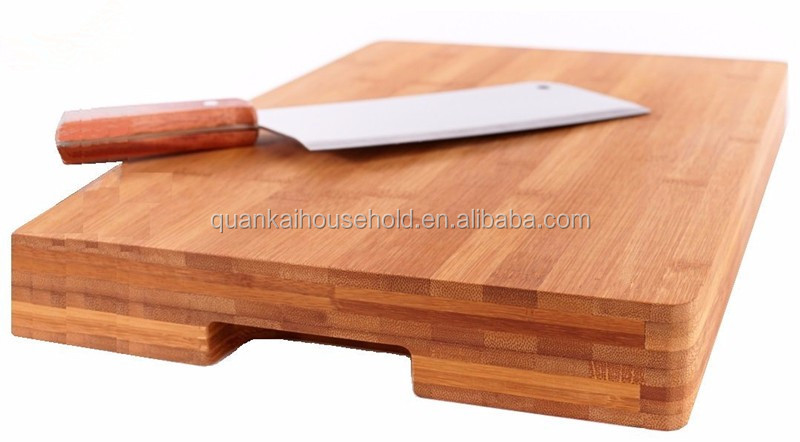Thick Bamboo Cutting Board & Serving Tray - Extra Large 16.5 x 12 inches - - Made Using Premium Bamboo