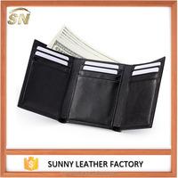 Trifold full grain vegetable wallets leather men