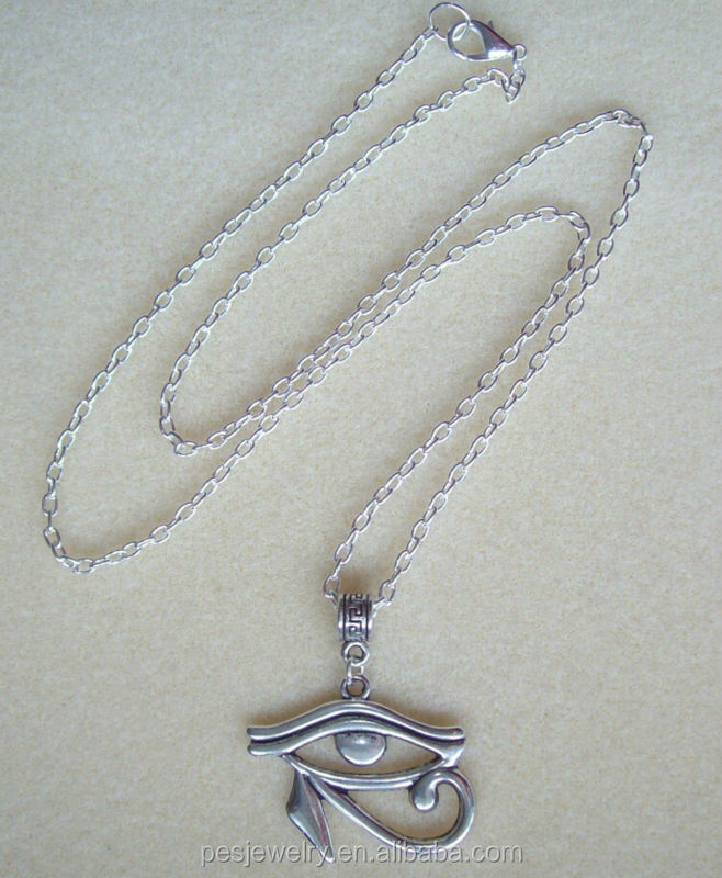 Antique charm eye of horus pendant long necklace for men (PES1-191)