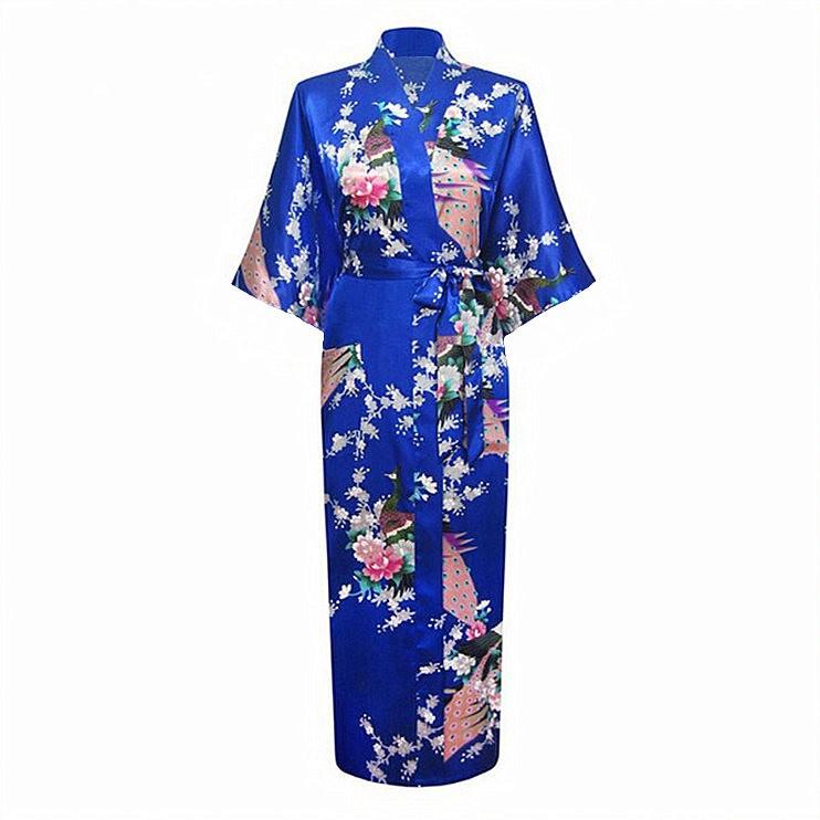 6d26a1f3d0 Women Bath Robe Pink Japanese Yukata Kimono Ladies Faux Silk Gown Sexy  Sleepwear Plus Size M L XL XXL XXXL Pijama Mujer Zh01Q