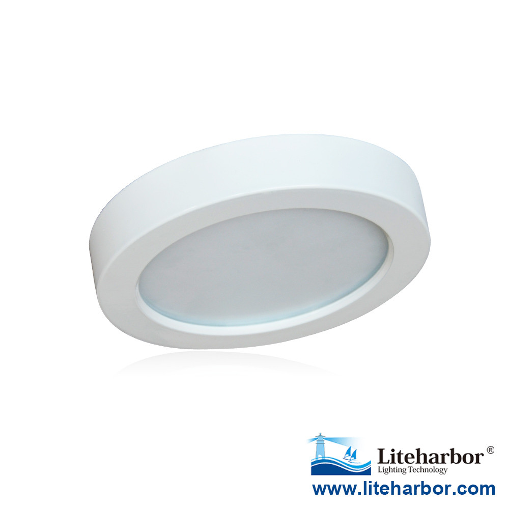 "China Guangdong manufacturer bathroom damp location 5.5"" round/square 10.5W surface mount modern led ceiling lamp"
