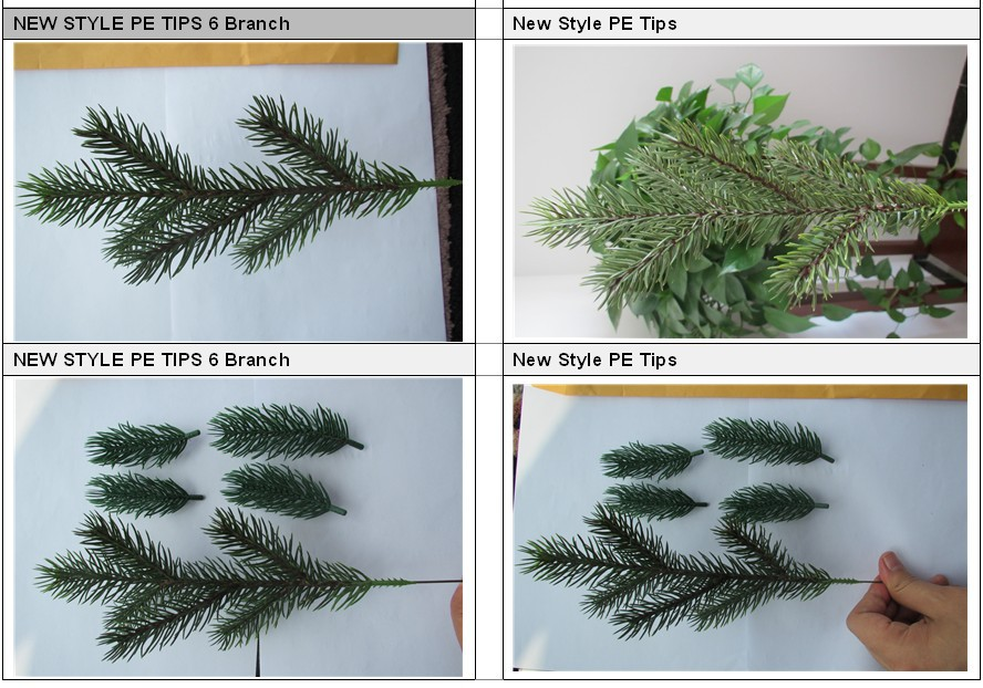 Artificial pine tree branches and leaves for christmas