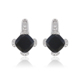91649 XUPING black stone white gold earrings samples,925 silver color cz earrings,white gold old fashioned earrings