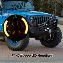 Jeep Accessories 12V Led Lamp Halo Headlight For Wrangler