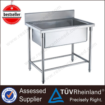 Hot Sale Free Standing Commercial Outdoor Stainless Steel Sink