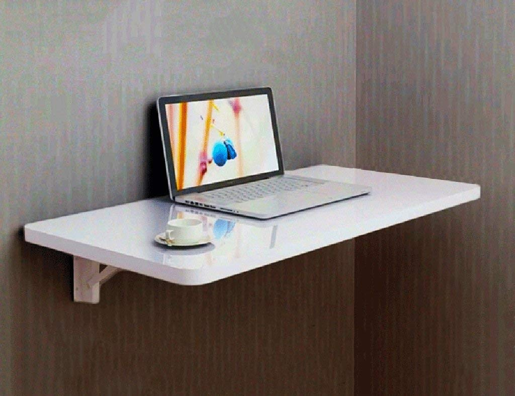 Mmdp Computer Desk Learning Table Wall-mounted Laptop Desk Paint Foldable Dining Table Office Table Size Optional (Size : 9050cm)