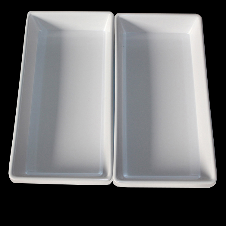 Factory Waterproof White Large Melamine Serving Tray