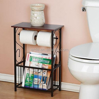 Magazine Organizer Bathroom Toilet Paper Holder