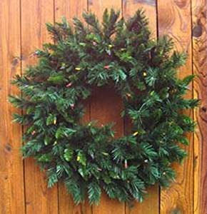 get quotations 30 inch multi pre lit princess artificial christmas wreaths 140888 - Artificial Christmas Wreaths Decorated