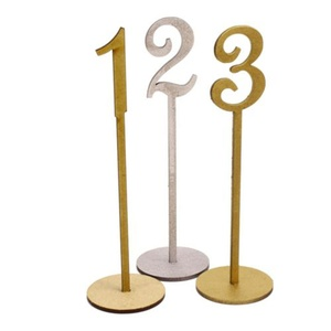 Unique Wood Table Numbers for Wedding Decoration