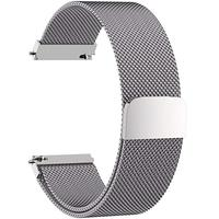 Great Milanese Magnetic Closure Stainless Steel Watch Band Replacement Strap For 22mm(Silver Color)
