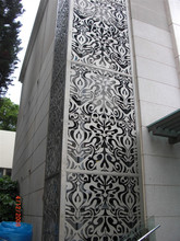 decorative metal wall covering panels used for building exterior wall decoration