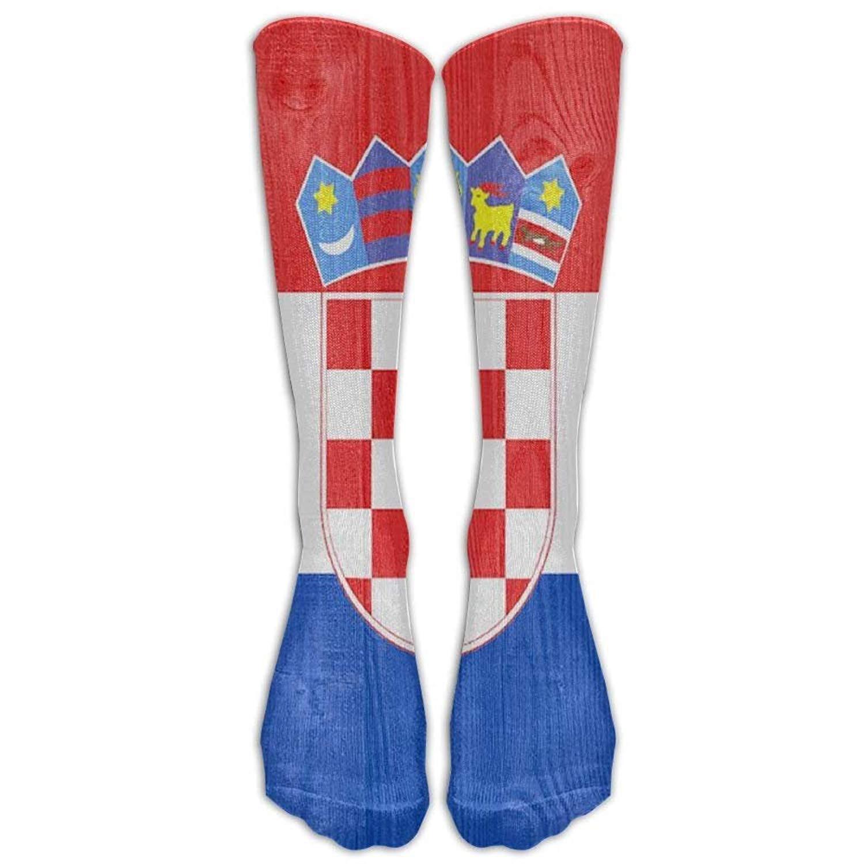 924493911 Get Quotations · Croatia Flag Youth Soccer Socks Teens Knee High Football  Socks Long Striped Rugby Tube Socks.