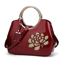 High class glossy painted leather Fashion handbag wholesale china supplier