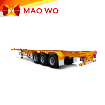 Maowo hot sale equipment new price good service 40ft 3 axles skeleton container semi trailer