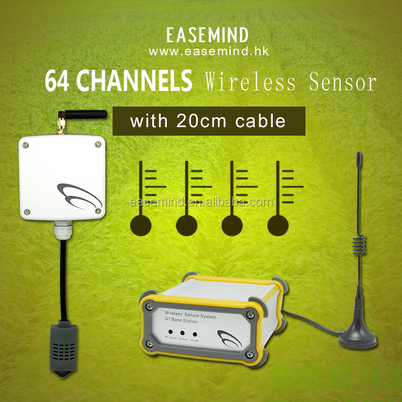 64 Channels wireless combo digital thermostat temperature sensor component