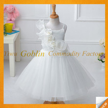 GBIY-565 Kids Fancy Dress Costumes White Color Princess Dress Girls Stylish Frocks Wholesale Baby Summer Dress