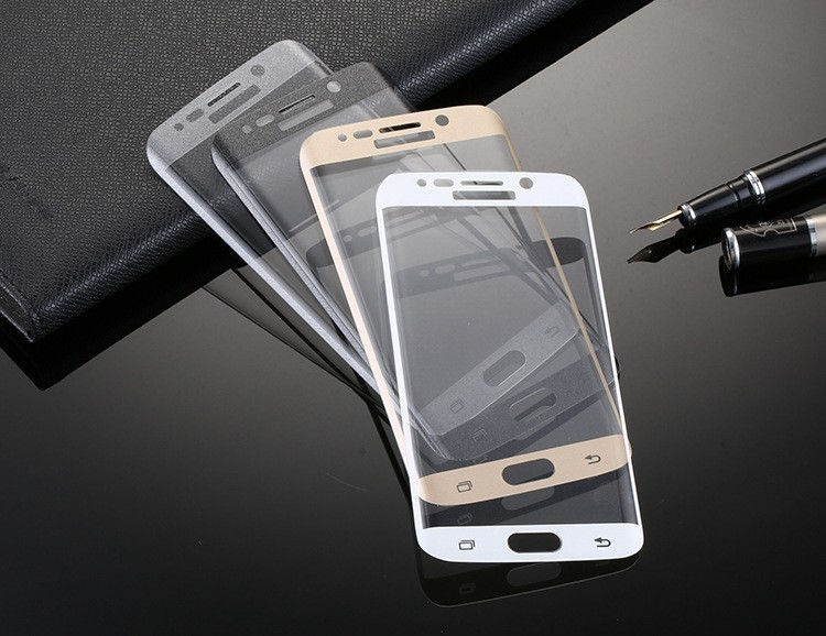 For samsung s7 edge tempered glass screen protector, Full protective curved for Samsung S8 tempered glass