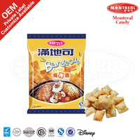 Snacks potato crisps food with barbecue flavor