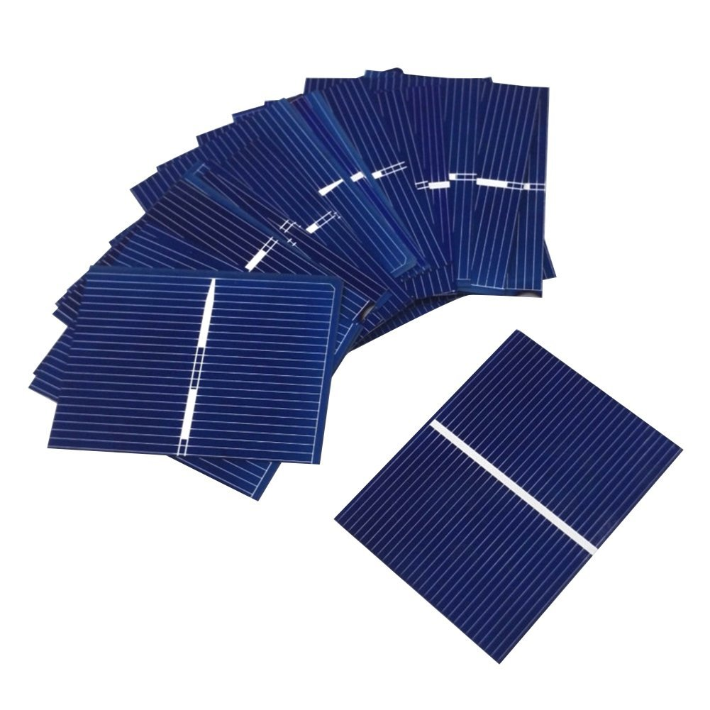 Aoshike 40pcs 52x38mm/2x1.5inch 0.3w Solar Cells For Solar Panels Polycrystalline Silicon solar panel DIY micro mini solar cells panel