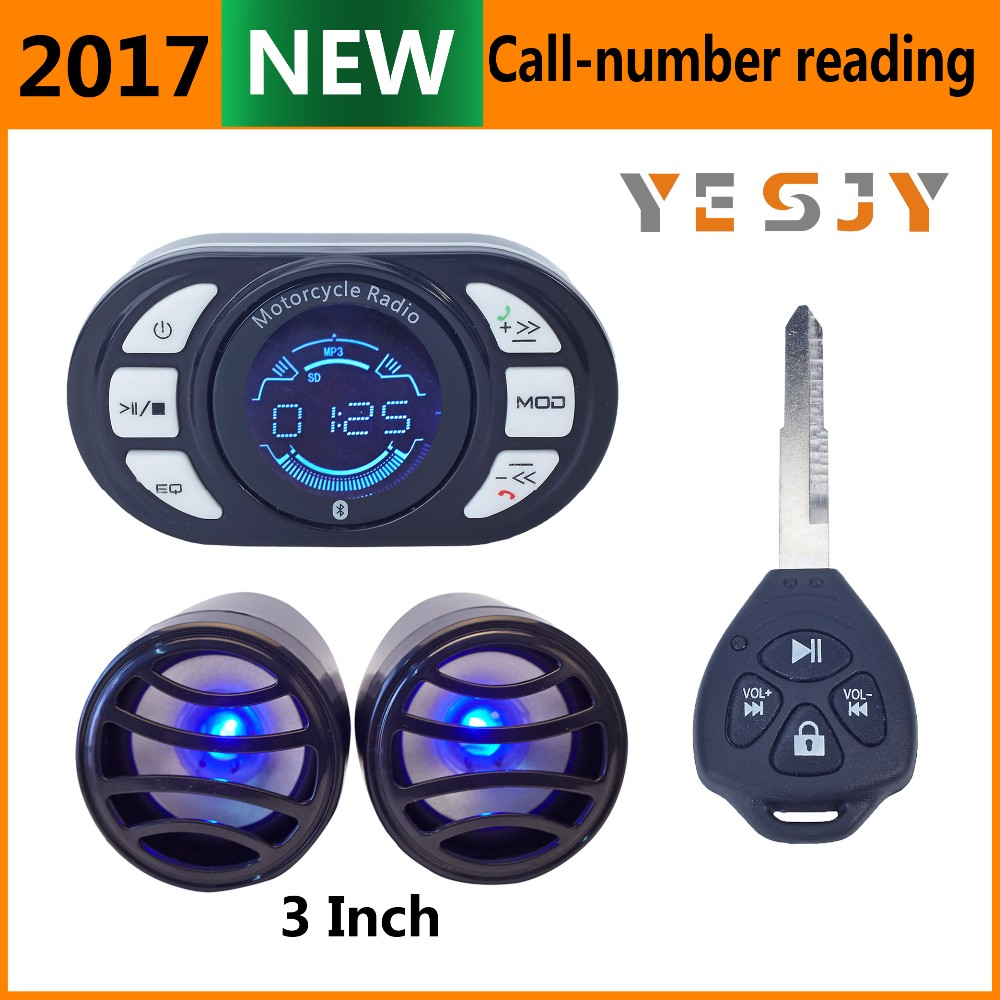 audio waterproof sell mp3 motorcycle alarm system wih mp3 fm radio