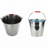 Stainless Steel Water Bucket With Lid Durable Pails For Farms Mop Bucket