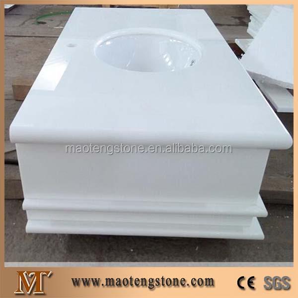 venta caliente de piedra de cuarzo encimeras de bao vidrio piedra tapa de la