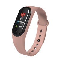 Optical heart-rate monitoring health records activity tracker Cheap M4 blood pressure oxygen waterproof smart watch gadgets