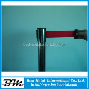 Metal barrier stanchion Crowd control barrier safety steel stanchion post
