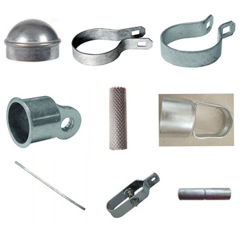 galvanized and powder coated chain link fence fittings/ chain link fence attachments/ fittings used in chain link