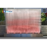 Free Design Colorful Artificial Outdoor Water Waterfall