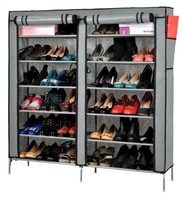 Portable Folding Hot Sale Non-woven Dustproof Fabric 6 Tier Shoe Rack with Cover