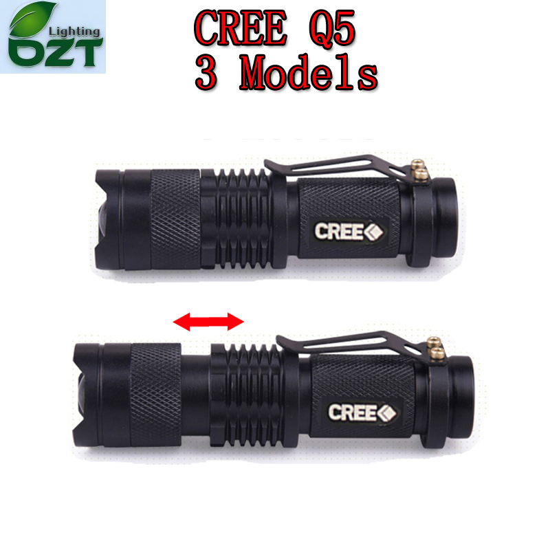 CREE XM L Q5 450Lumens Cree led Torch Zoomable Cree Waterproof LED Flashlight Torch Light
