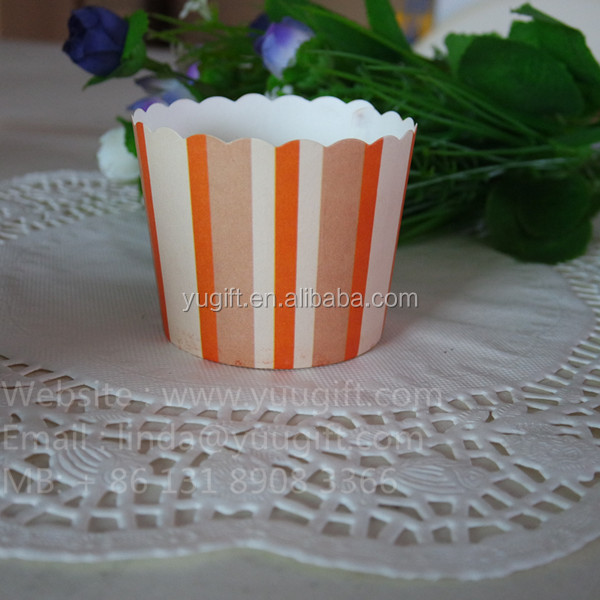 2105 customers ' design stripes cupcake liners and cupcake paper baking cups / High quality baking souffle cups paper
