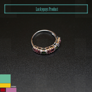 Wholesale Fashion Jewelry Women Ladies 925 Sterling Silver Crystal Wedding Couple Rings