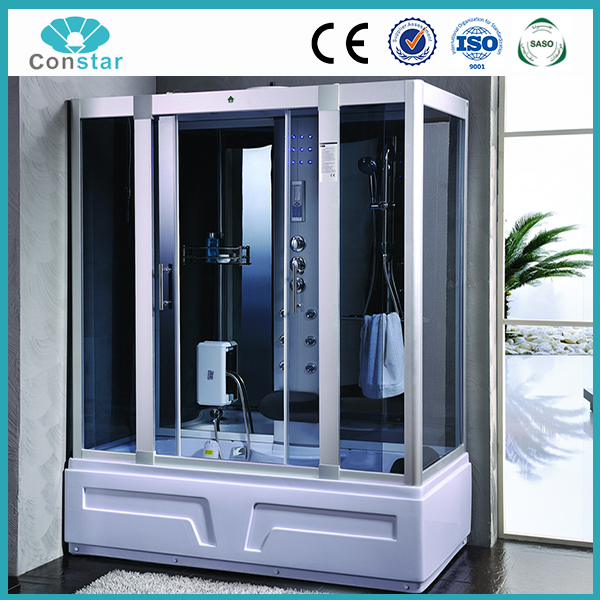 New Design dubai simple tempered glass complete portable high quality prefab bathroom shower room