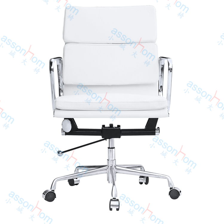 PU Synthetic Leather Charles Style Mid Back Soft Pad Executive Chair Lift Offfice Task Chair