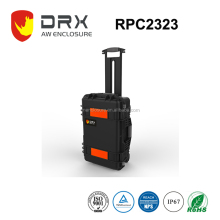 IP67 Protective Plastic Trolley Case Equipment Carrying Box with pull rod
