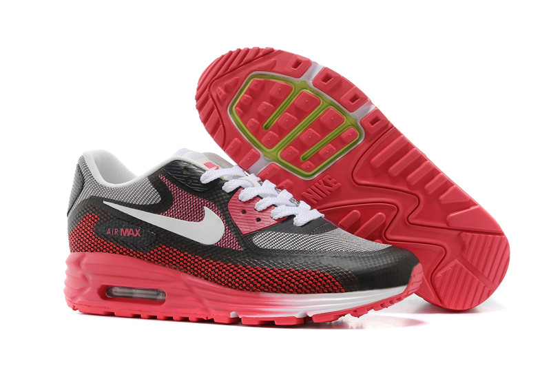 fee0199ded Nike Air Max 90 White Red Black Fashion Mens Running Trainers Shoes