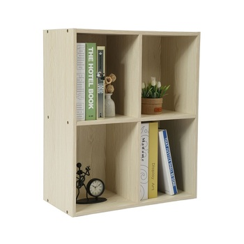 Portable 4 Cube Small Wooden Desktop Bookcase Design Small Wood Book Shelf View Desktop Bookcase Home Bi Product Details From Homebi Technology Co
