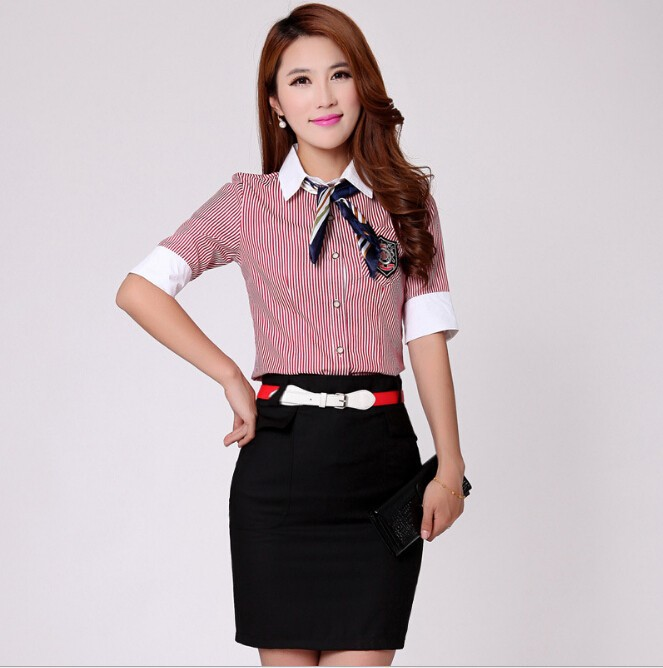 Office uniform blouse designs for women for Office uniform design 2015