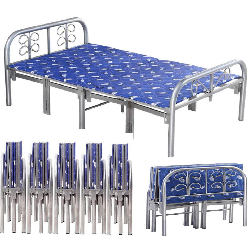Wholesale heavy duty modern furniture durable metal folding temporary adult single <strong>bed</strong>