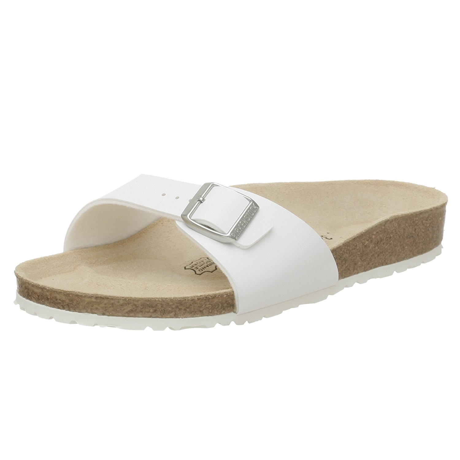 a9f9e56bad2c16 Get Quotations · Birkenstock Madrid White Womens Sandals 40731