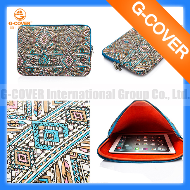 Laptop Sleeve Bohemian Style Canvas Fabric 11-11.6 Inch for Netbook / Notebook Computer / for MacBook Air Sleeve Case Bag